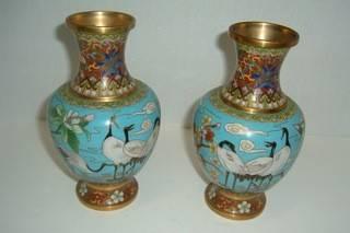 Pair of Cloisenne Vases