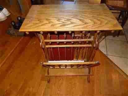 Refinished Ornate Stick & Ball Table/Magazine Rack C