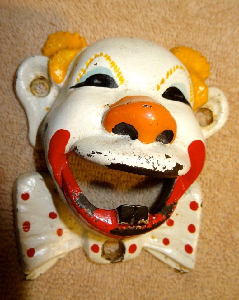 23: Cast Iron Clown Bottle Opener