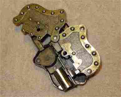 Rare Hubley Lock-Cap Gun w/Original Key