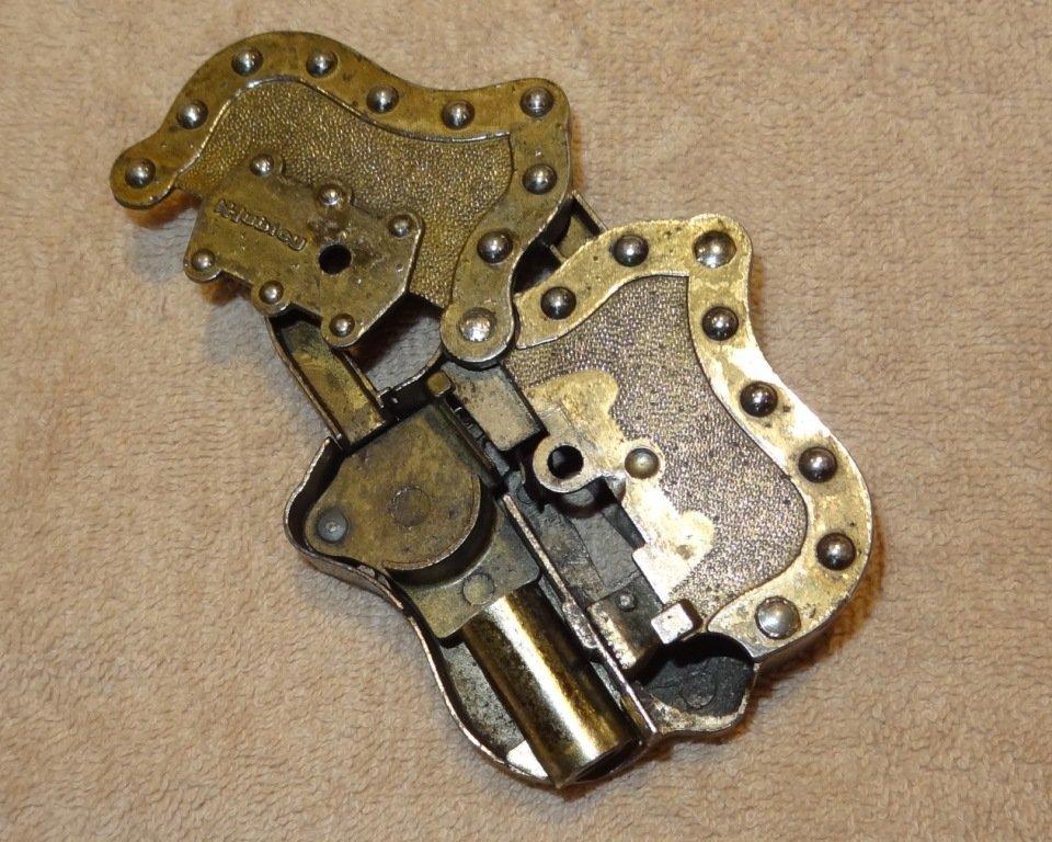 24: Rare Hubley Lock-Cap Gun w/Original Key