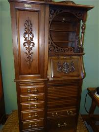 116: Rare Harvard Dental Cabinet w/Swing out Side