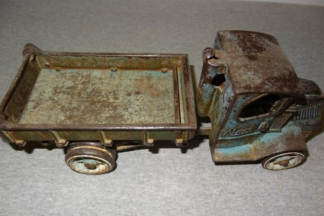 "17: 12"" Macke Cast Iron Toy Truck"