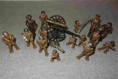 16 Lead Soldiers & Tank
