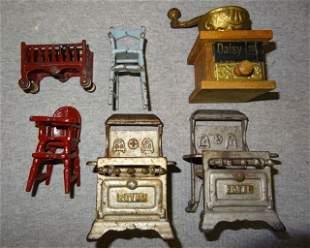 6 Cast Iron Sample Pieces