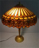 225: Dufner & Kimberly Batwing Stained Glass Lamp