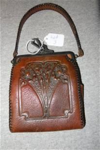 Nocona Hand tooled Leather Turn of the Century Purse