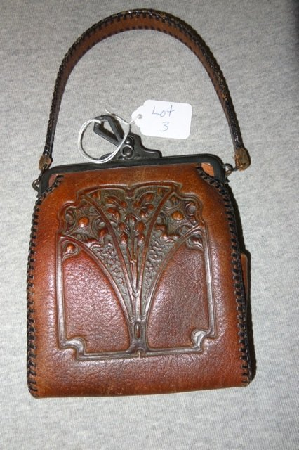 Nocona Hand tooled Leather Turn of the Century Purse