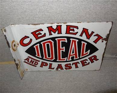 Porcelain Ideal Cement Flange Sign