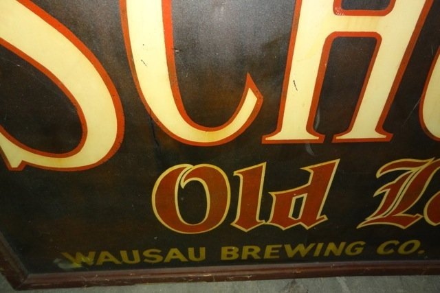 Large Schoen's Old Lager Beer Sign- Wausau Brewing Co. - 3
