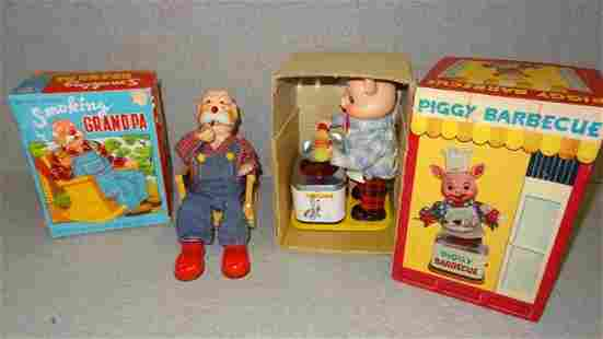 Piggy Barbecue & Smoking Grandpa