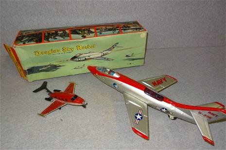 Douglas Sky Rocket in Box & Tonk Learjet