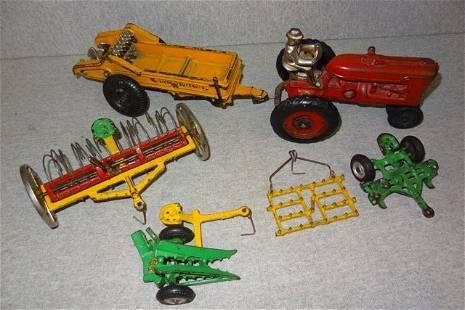 Rare Arcade Cast Iron Farm Set