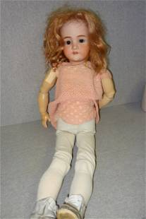 Large Malkure Germany Bisque Head Doll