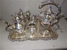 Large Silverplate Tea Set