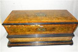 Large Cylinder Music Box in Inlaid Case