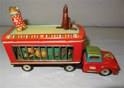 Early Japanese World Circus Semi Tin Friction Toy