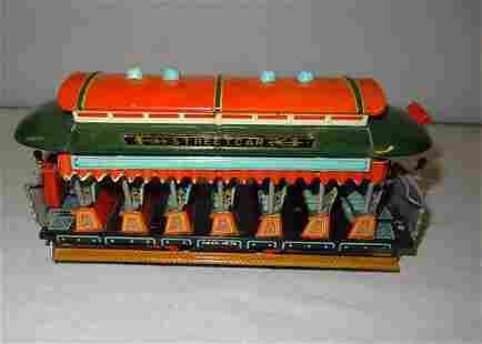 Early Tin No.45 Street Car Tin Toy