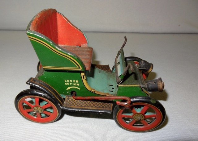Early Lever Action Tin Car