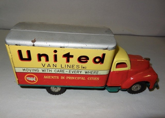 United Van Line's Tin Friction Truck
