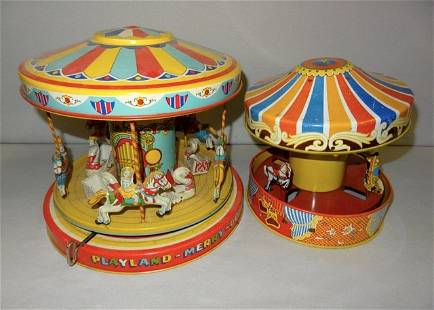 Playland Merry Go Round & Sm. Merry Go Round