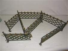 7 Pcs of Cast Iron Victorian Toy Fence