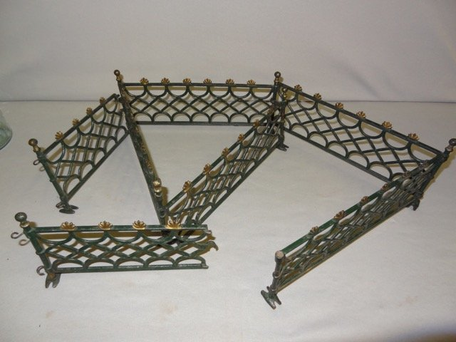 7 Pc's of Cast Iron Victorian Toy Fence