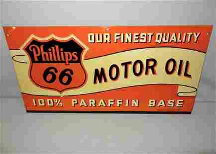 Phillips 66 Motor Oil Sign-Dated 1940