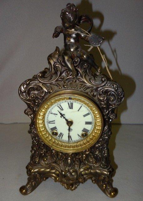 Large Ansonia Figural Mantle Clock
