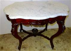 Large Victorian Turtletop Table