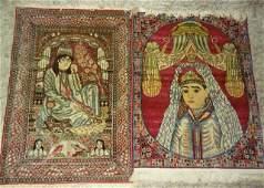 Pair of Oriental Rugs of King & Queen