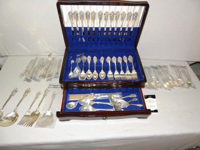 118 Pcs. Set of Grand Baroque Sterling Flatware