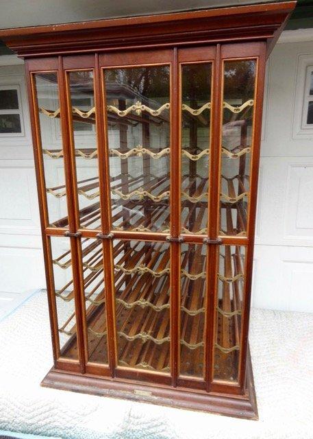 Large Oak & Walnut Ribbon Cabinet