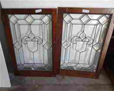 2 Leaded Bevel Windows