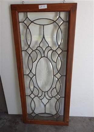 Large Leaded Beveled Window