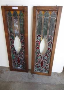 Pair of Stained Glass Windows
