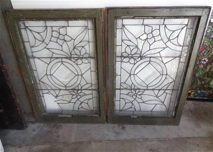 2 Leaded Glass Windows