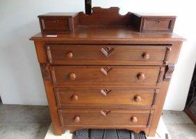4 Drawer Victorian Dresser