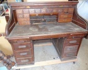 Large Full Interior Rolltop Desk