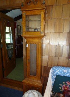 Oak Tall Case Grandfather Clock