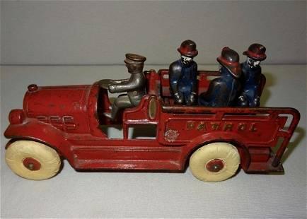 Large Cast Iron Fire Patrol Car