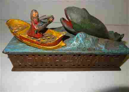 Early Jonah and the Whale Mechanical Bank