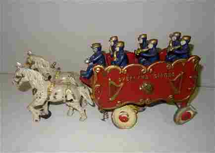 Large Cast Iron Horse Drawn Circus Wagon