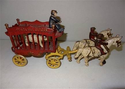 Large Overland Horse Drawn Circus Wagon