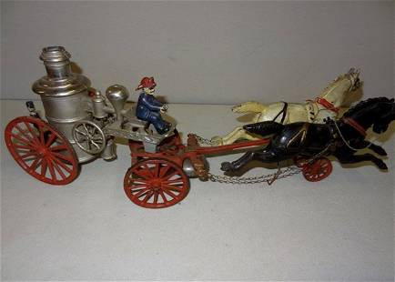 Large Early Horsedrawn Fire Pumper