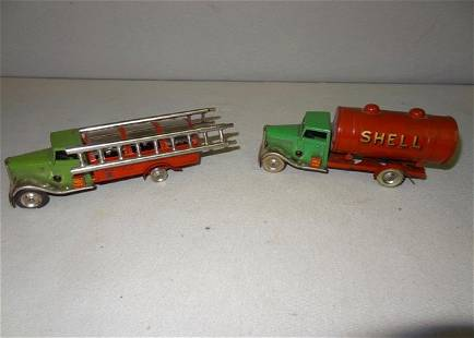 2 Early Minic Oil Toy Truck's made in England