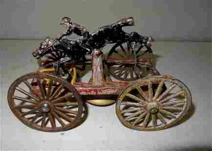 Cast Iron Horse Pull Bell Toy