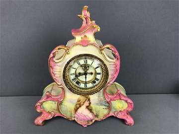 Ansonia China Case Clock