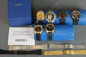 Lot of 6 Seiko Mens Watches