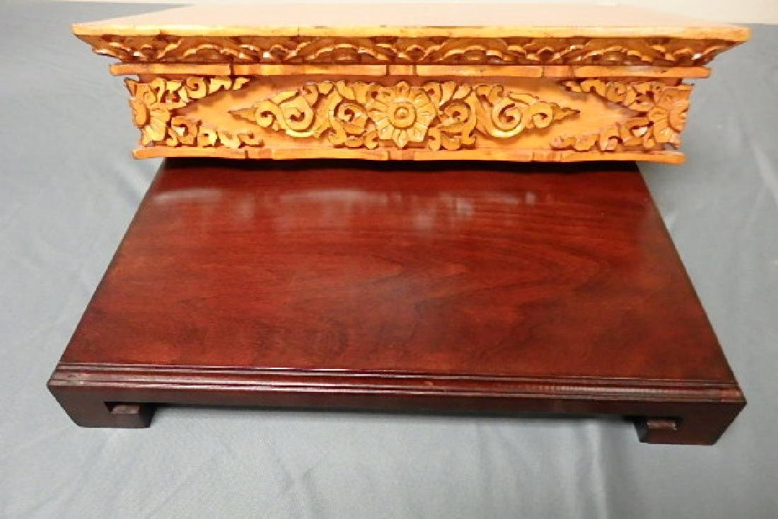Wooden Carved Shelf with Dragon